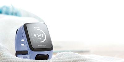 Relógio Gps Tomtom Runner 2 Cardio Azul com Purpura Small